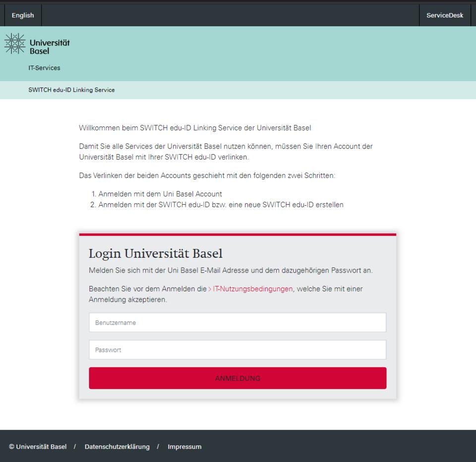 SWITCH edu-ID Linking Service
